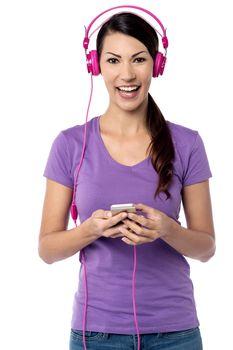 Listening my favorite song !