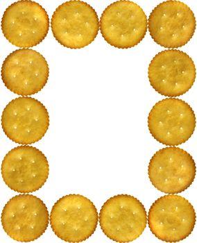 Frame of cookies, Crackers, Salty Biscuits
