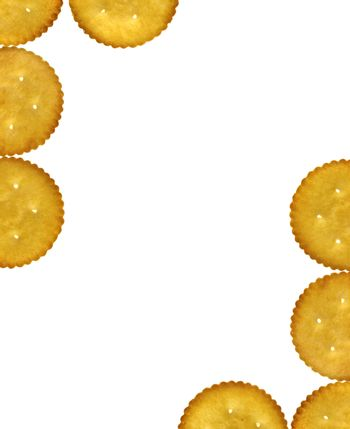 Empty template with Crackers, Salty Biscuits
