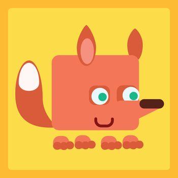 Fox stylized icon symbol