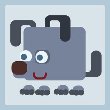 Dog stylized icon symbol