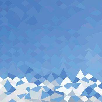 Low polygon style illustration of a blue sea surf abstract background.