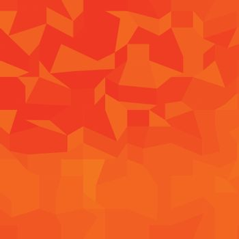 Low polygon style illustration of a fire red abstract background.