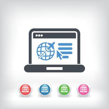 Illustration of travel agency website icon