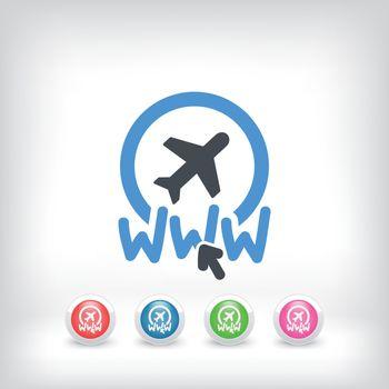 Illustration of website travel agency icon