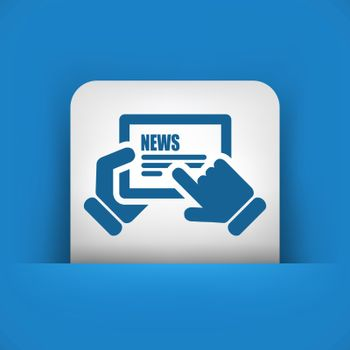 Illustration of web journal icon
