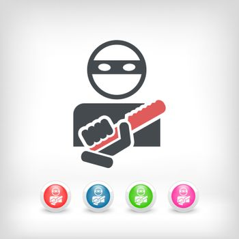 Armed bandit concept icon