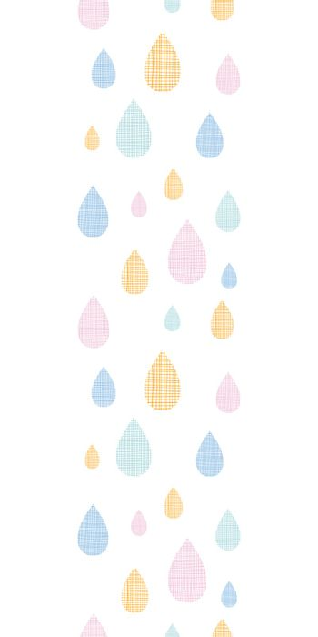 vector abstract textile colorful rain drops vertical seamless pattern background