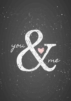 St. Valentine's Day Typographic Chalkboard Design