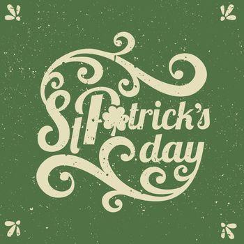 St. Patrick's Day Typographic Design