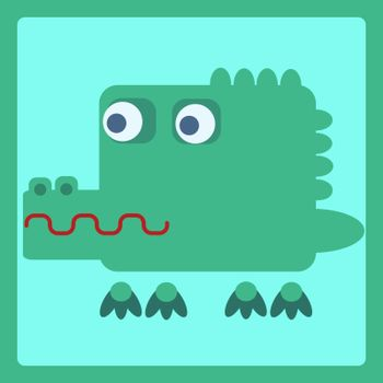 crocodile stylized cartoon icon
