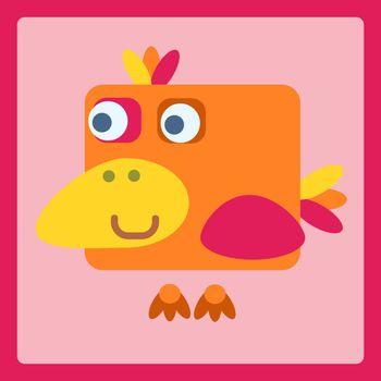 Bird stylized cartoon icon