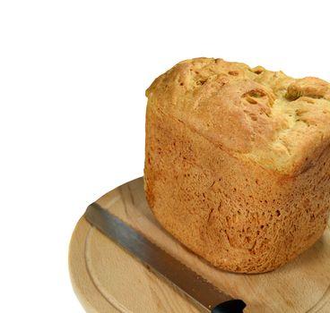 Fresh bread on a wooden board