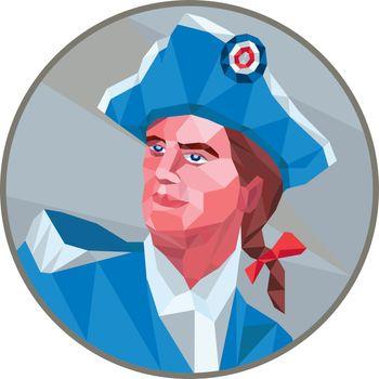 American Patriot Circle Low Polygon