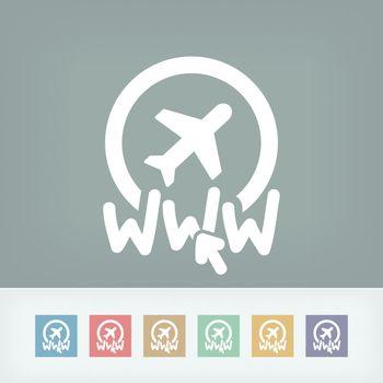 Website travel agency icon