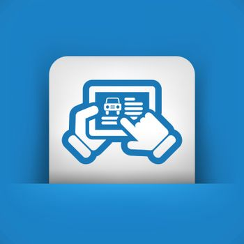 Automotive website on tablet