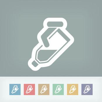 Pour liquid bottle