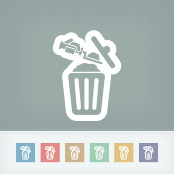 Disposal of construction materials