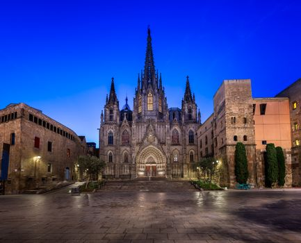Cathedral of the Holy Cross and Saint Eulalia in the Morning, Ba
