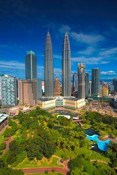 View of Kuala Lumpur skyline at daytime