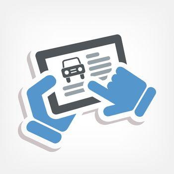 Automotive web icon
