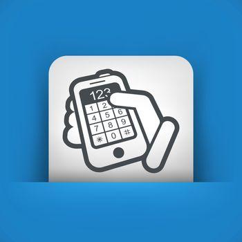 Phone keypad numbers