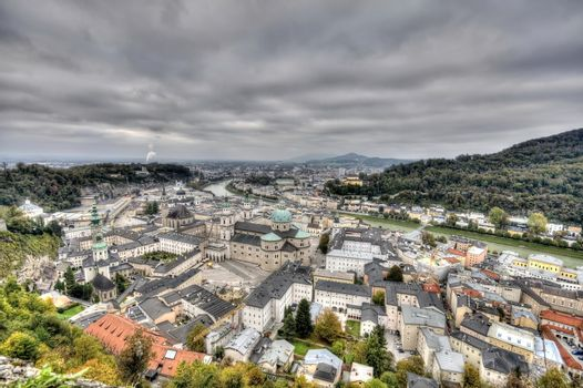 City of Salzburg from the fortress