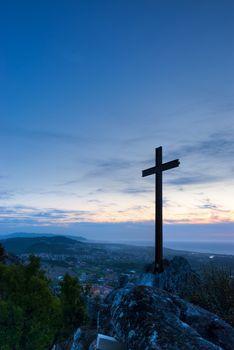 Cross on Mountain Top