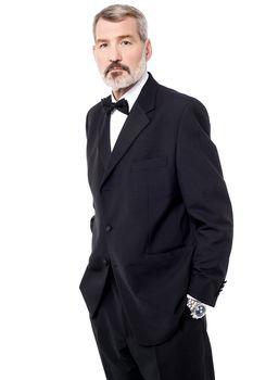 Casual pose of confident businessman