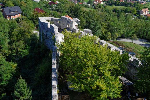 Bastion of Celje medieval castle in Slovenia