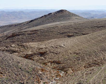 Desert canyon Kidod Ceek near Arad in Negev, Israel