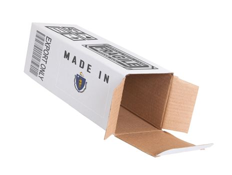 Concept of export - Product of Massachusetts