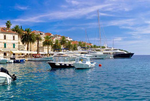 Yachting harbor of Hvar island