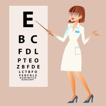 The doctor ophthalmologist examines your eyes