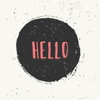 Abstract Hello Card