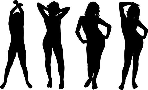 set of women posing