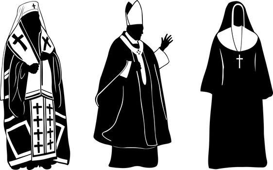 set of religious figures