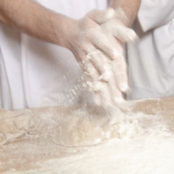 Baker Working with Dough.