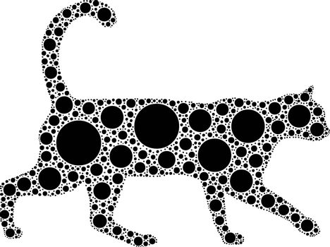 dotted cat silhouette