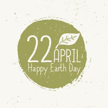 Earth Day Typographic Design
