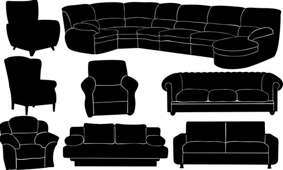 set of different couches