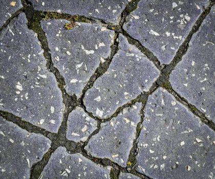 chapped asphalt pavement