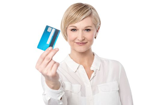 Shop ease with credit card.