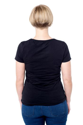 Casual woman from back