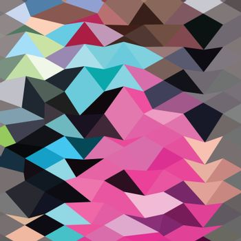 Low polygon style illustration of a pink crystal abstract background.