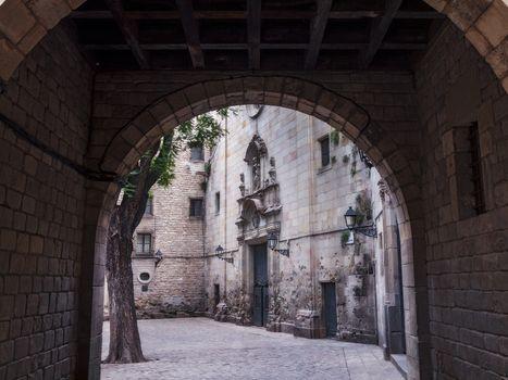 San Felipe Neri square. Barcelona, Spain
