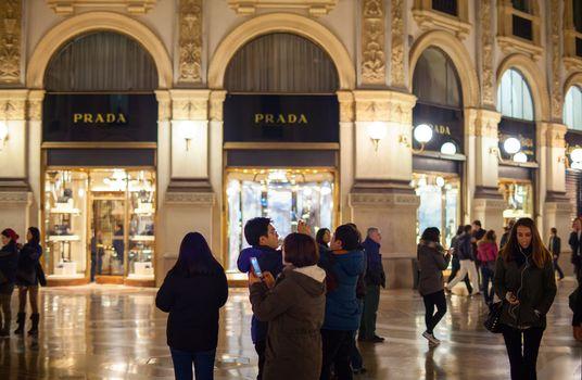 MILAN, ITALY - NOVEMBER, 24: People using smartphone in Milan on November 24, 2014