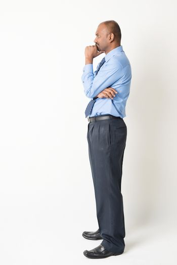 Indian businessman having a thought