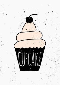 Hand Drawn Cupcake Poster