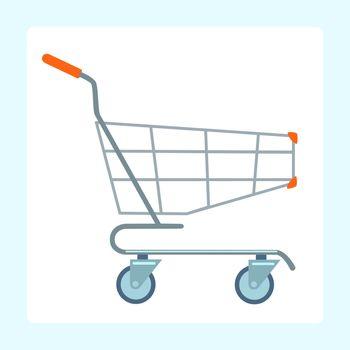 Grocery cart on wheels